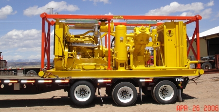 "Specifications on Keystone Gardner Denver 6"" x 4"" Two-Stage Air Booster - Heavy Duty Oil Field Skid"